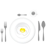 Egg plate Royalty Free Stock Images