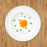 Egg and plate Royalty Free Stock Photos