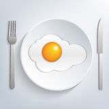 Egg on plate Royalty Free Stock Photo