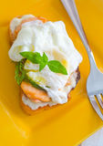 Egg-poached Stock Photography