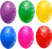 Egg polygon Stock Photos