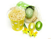Egg in a pot Stock Image