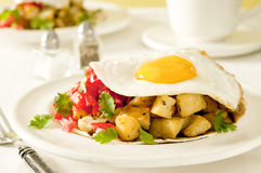 Egg and Potato Breakfast Stock Image