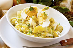 Egg and potato salad Royalty Free Stock Image