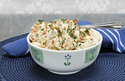 Egg Potato salad with pakrika and parsley Royalty Free Stock Images