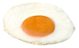Egg pouched. Over white background Stock Photography