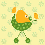 Egg in pram Royalty Free Stock Images