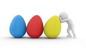 Egg push Royalty Free Stock Image