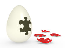Egg with the puzzle Stock Photo