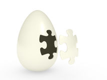Egg with the puzzle Royalty Free Stock Photos