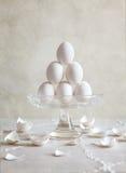 Egg Pyramid Royalty Free Stock Photography