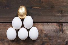 Egg pyramid Stock Photos