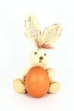 Egg and rabbit decoration Stock Photos