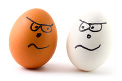 Egg racism Royalty Free Stock Photography