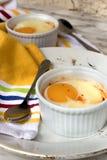 Egg in ramekin Royalty Free Stock Image
