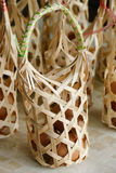Egg in rattan bag Royalty Free Stock Photography