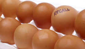 Egg Recall Royalty Free Stock Photography