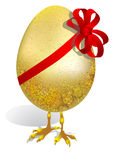 Egg with ribbon Royalty Free Stock Images