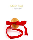 Egg with ribbon isolated Stock Photography