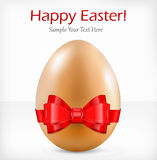 Egg with ribbon & text Royalty Free Stock Photos