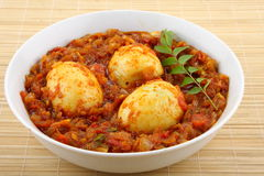 Egg roast from South Indian cuisine. Stock Photography