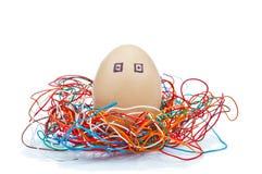 Egg robot Royalty Free Stock Photo