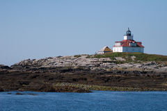 Egg Rock Light Station - Maine. Egg Rock Lighthouse on Frenchman Bay, Maine Royalty Free Stock Photo