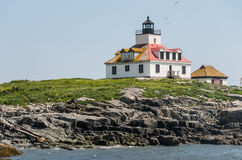 Egg Rock  Lighthouse Stock Image