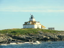Egg Rock Lighthouse Maine, USA. Picture taken in the Atlantic Ocean, close to Bar Harbor Maine, USA Royalty Free Stock Images