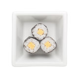 Egg roll hosomaki Stock Image