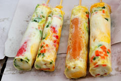 Egg roll in the market Royalty Free Stock Images