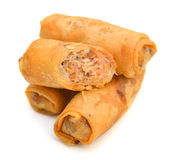 Egg Roll. Spring Roll also known as Egg Roll isolated on white Stock Images