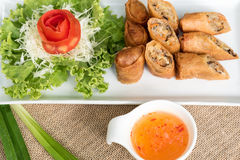 Egg roll or Spring roll or Popiah Royalty Free Stock Photography