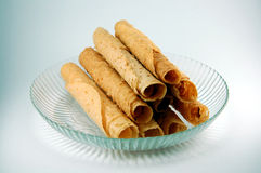 Egg Rolls. A traditional chinese new year delicacy Royalty Free Stock Image
