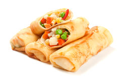 Egg rolls filled with vegetables Royalty Free Stock Photography
