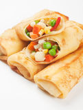 Egg rolls filled with vegetables Royalty Free Stock Photo