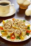 Egg rolls with meat Royalty Free Stock Photo