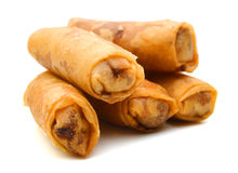 Egg rolls. On white background Royalty Free Stock Photography