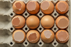 Egg row. Egg is row for food raw Stock Photography