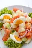 Egg salad. Traditional greek salad with eggs stock photo