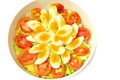 Egg salad. Boiled egg salad are just like any sala Royalty Free Stock Photo