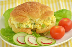 Egg salad croissant Royalty Free Stock Image