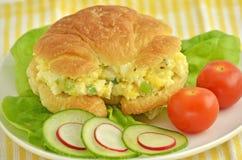 Egg salad croissant Royalty Free Stock Image