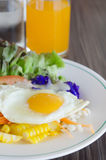 Egg and salad on dish Royalty Free Stock Image