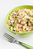 Egg salad in a green bowl Stock Photography