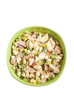 Egg salad in a green bowl Royalty Free Stock Photography