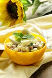 Egg salad with quail eggs, cucumber Stock Images