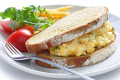 Egg salad sandwich Royalty Free Stock Photo