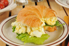 Egg salad sandwich on a croissant Stock Image