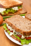 Egg salad sandwiches on brown bread Stock Photography